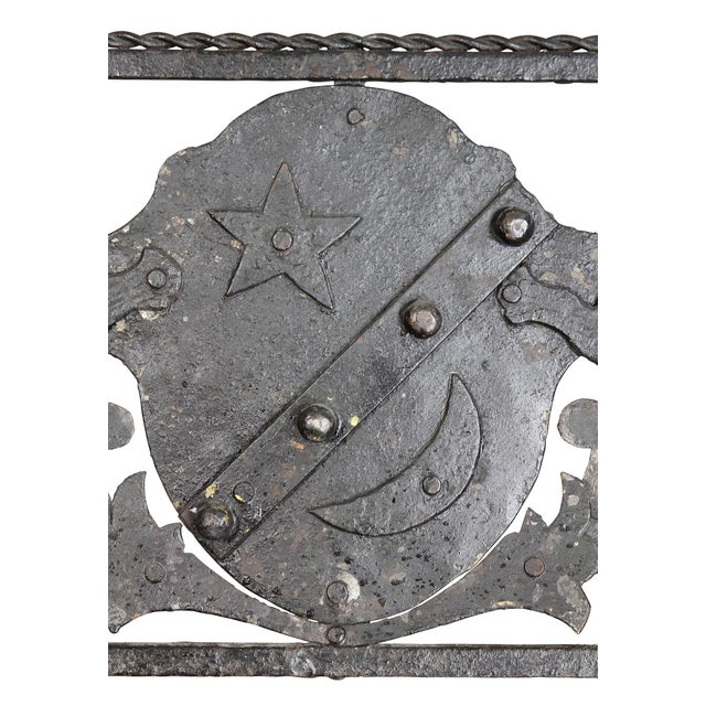19th Century Italian Wrought Iron Fire Fender For Sale - Image 5 of 8