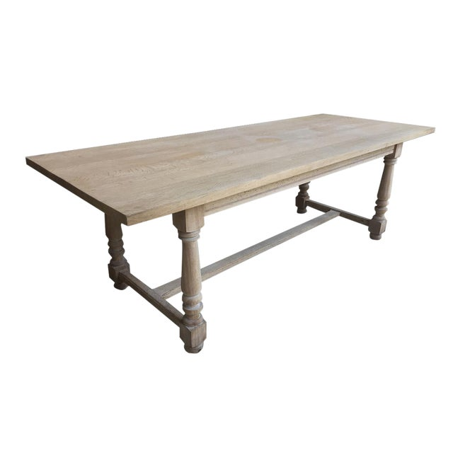 French Antique Scrubbed Dining Table For Sale
