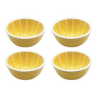 Set of 4 Ceramic Breakfast Bowls, C. 2000 For Sale