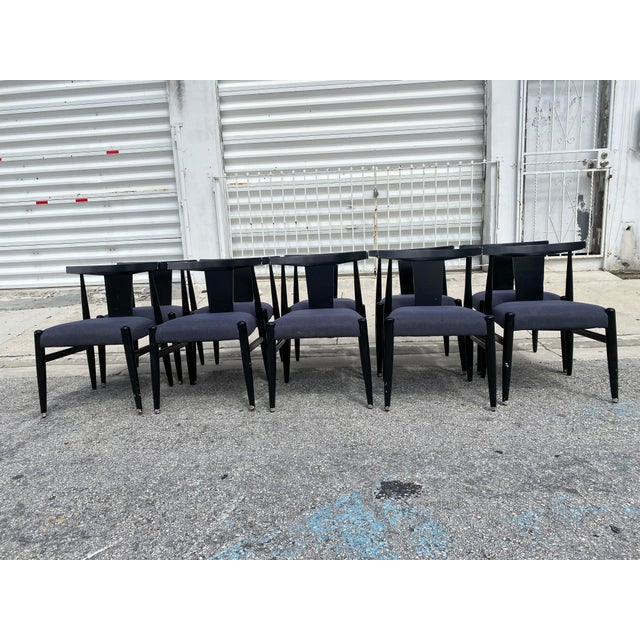 Midcentury Modern Style Klismos Chairs Set of Ten . For Sale - Image 4 of 13