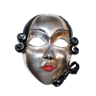 Vintage Enameled Face Brooch, C. 1930s - Face Pin - Collectible Brooch - Enamel Face Brooch For Sale