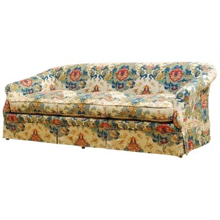 Midcentury Baker English Chinoiserie Style Sofa For Sale