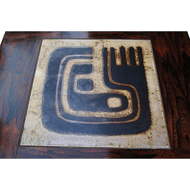 Square Coffee Table with Abstract Tile - Image 2 of 4