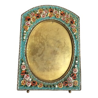 Antique Micro Mosaic Photo Frame