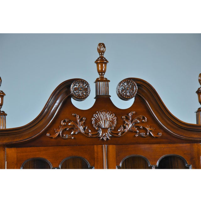 2010s Carved Mahogany Corner Cabinet For Sale - Image 5 of 8
