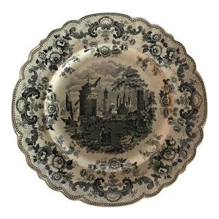 Antique Decorative Transferware Plate For Sale