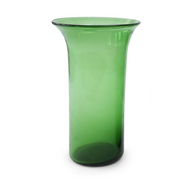 Italian green glass vase by Empoli (circa 1960).