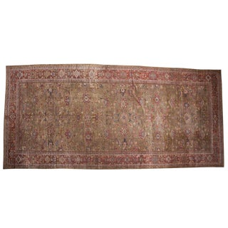 "Antique Mahal Rug Runner - 9'1"" x 19'8"""