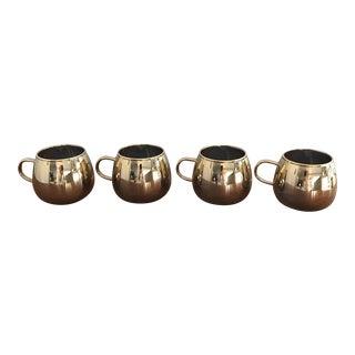 Mid-Century Gold Ombré Glasses - Set of 4