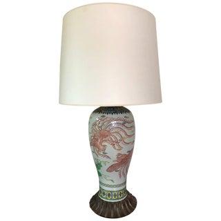 Large 19th Century Japanese Imari Vase Lamp For Sale
