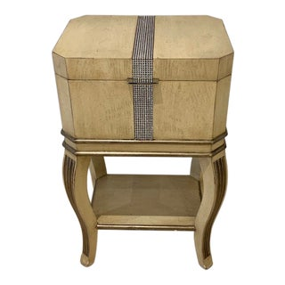 Hollywood Regency Marge Carson Gramercy Chair Side Box Table For Sale