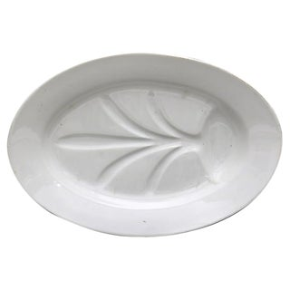 Antique French Porcelain Well & Tree Platter For Sale