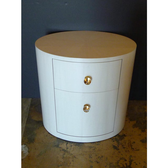 Italian-Inspired 1970S Style Oval Nightstand For Sale In Los Angeles - Image 6 of 8