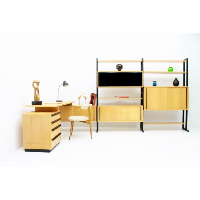 Mid-Century Modern Very Rare Office With a Shelf and a Desk by Alfred Altherr, Switzerland, 1955 For Sale - Image 3 of 10