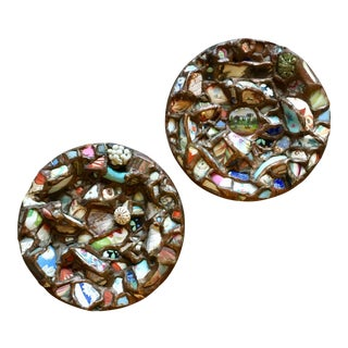 Fragment Pottery Memoryware Plates - A Pair