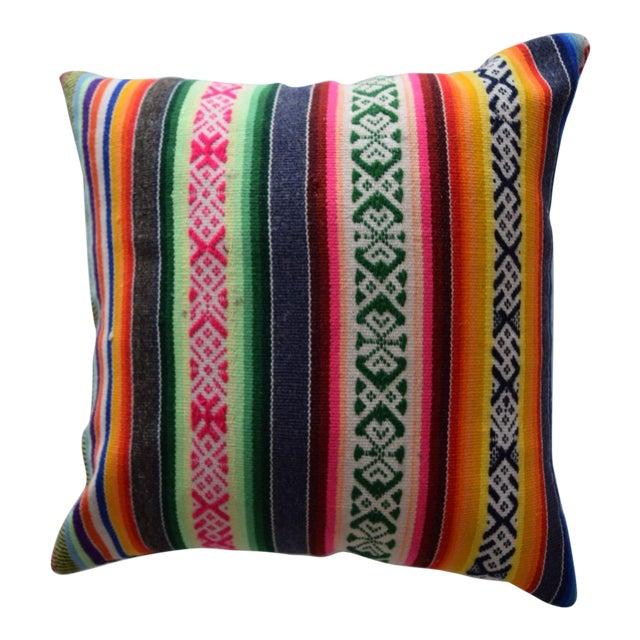 Vintage Manta Striped Pillow - Image 1 of 5