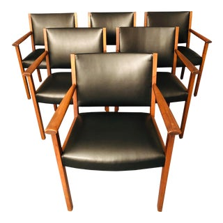 Mid-Century Gunlock Dining Chairs- Set of 6 For Sale