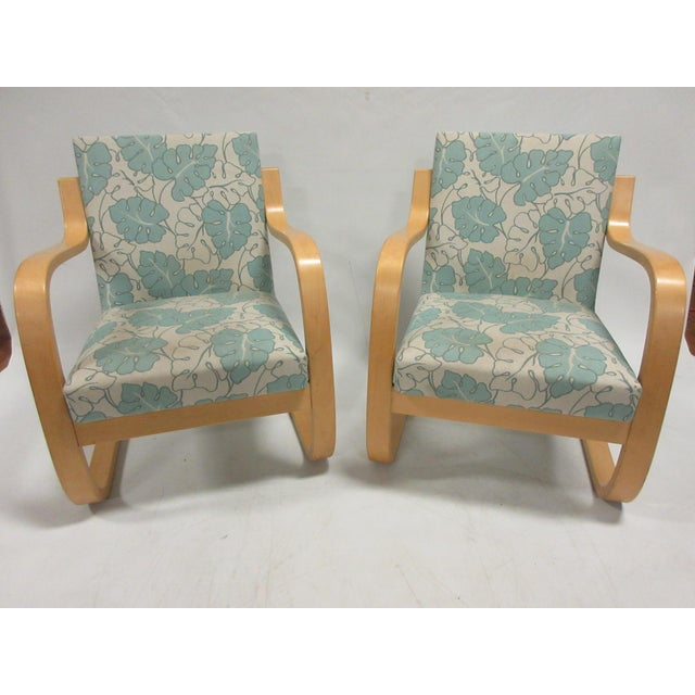 1990s Vintage Artek Armchair 402 Designed by Alvar Aalto - a Pair For Sale - Image 12 of 12