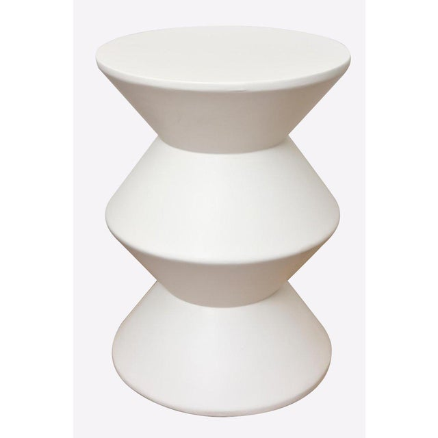 Sirmos Pair of Sirmos Plaster of Paris Modernist Sculptural Side Tables/Tables For Sale - Image 4 of 10