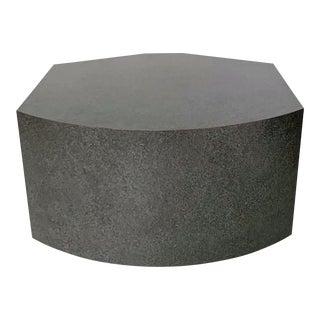 1980s Vintage Diagonal Faux Granite Coffee Table For Sale