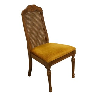 Bernhardt Furniture Co. French Country Cane Back Dining / Side Chair For Sale