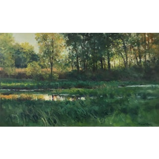 "Thomas McNickle ""Evening Shade"" Contemporary Realist Landscape Oil Painting For Sale"