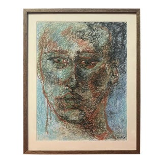 Drawing Portrait by Gillian Lefkowitz For Sale