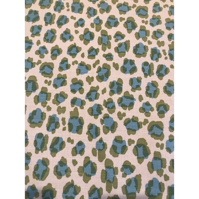 "China Seas ""Conga Line"" Linen Fabric 3 6/8 Yards For Sale"