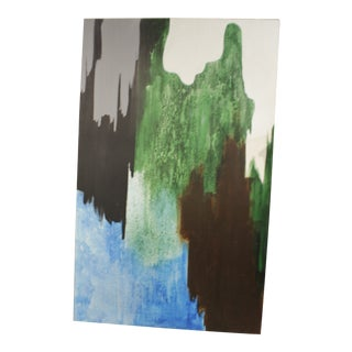 1960s Vintage Abstract Mural Painting For Sale