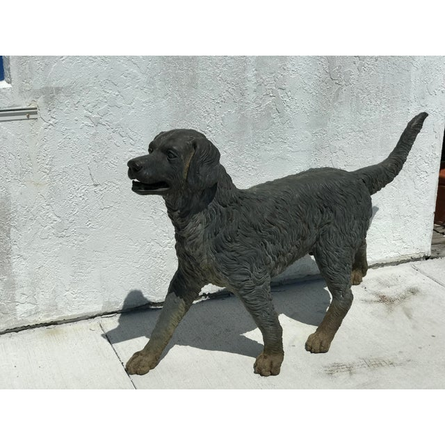 Bronze Vintage Bronze Dog Retriever For Sale - Image 8 of 9