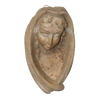 Early 20th Century Antique Italian Architectural Salvaged Madonna For Sale