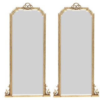 Scottish Tall Wall Mirrors - a Pair For Sale