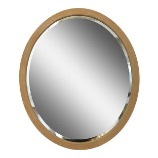 Oval Beveled Mirror For Sale