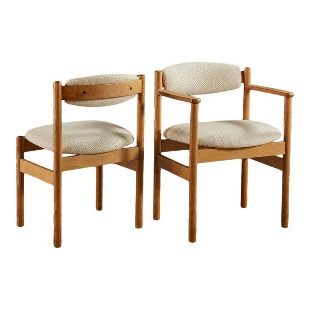 Set of 6 Danish Oak Dining Chairs for Fdb Mobler by Jørgen Bækmark For Sale