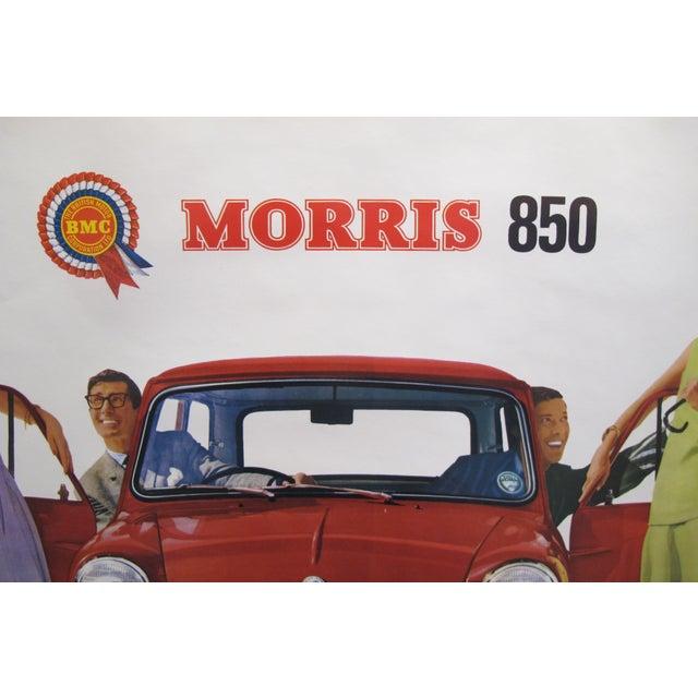 "Contemporary 1959 Original Vintage Car Advertisement Poster - British Car ""Morris 850 Mini"" For Sale - Image 3 of 6"