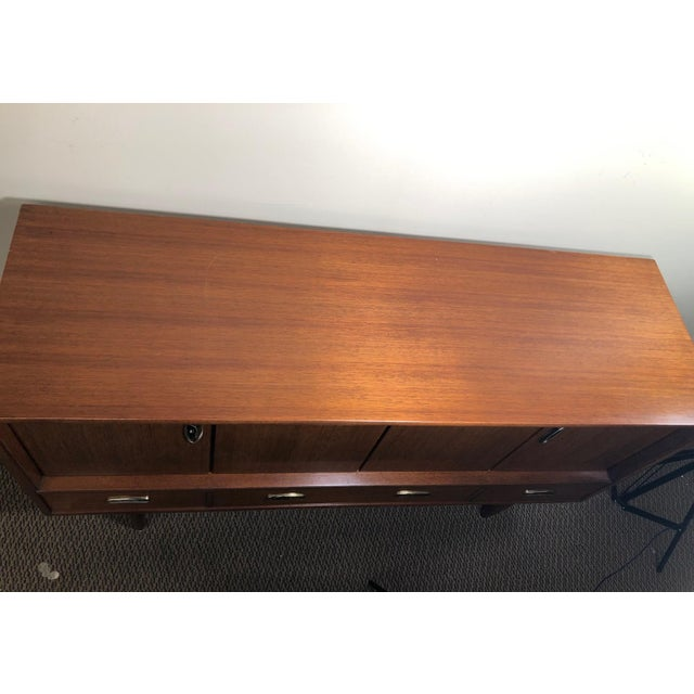 Midcentury Mahogany Credenza Sideboard With Metal Pulls by G Plan For Sale - Image 11 of 13