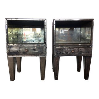 Vintage Venetian Mirrored Cabinets - A Pair For Sale