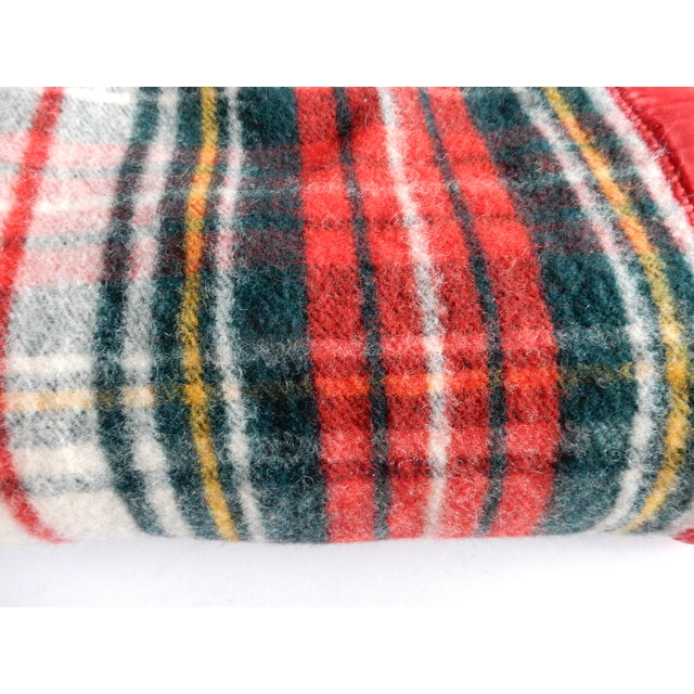 Lodge Pearce Red Plaid Blanket For Sale - Image 3 of 3