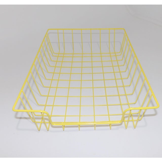 Mid-Century Modern Yellow Wire Office Desk File Sorter For Sale In Sacramento - Image 6 of 6