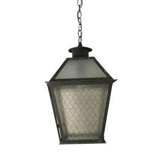 Chicken Wire Glass Outdoor Copper Lantern For Sale
