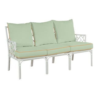 Haven Outdoor Sofa in Canvas Mint with Canvas Tuscany Welt