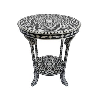 Moorish Inlay Round Side Table For Sale
