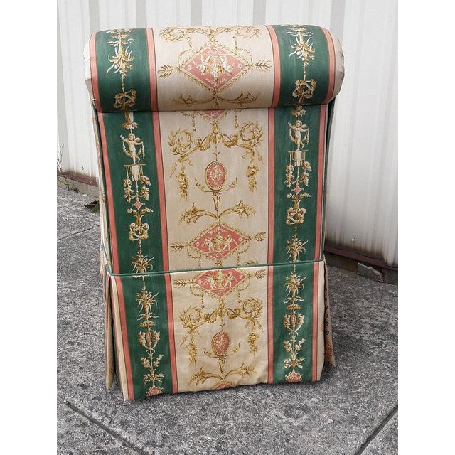 French Upholstered Cherub Neoclassical Napoleon III Slipper Chair For Sale In Philadelphia - Image 6 of 8