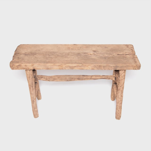 Not Yet Made - Made To Order Reclaimed Chinese Elm Courtyard Console Table For Sale - Image 5 of 7