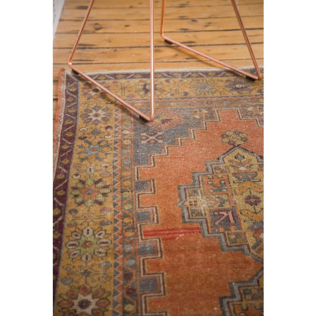 "Vintage Distressed Oushak Rug - 3'9"" x 6'6"" - Image 9 of 11"