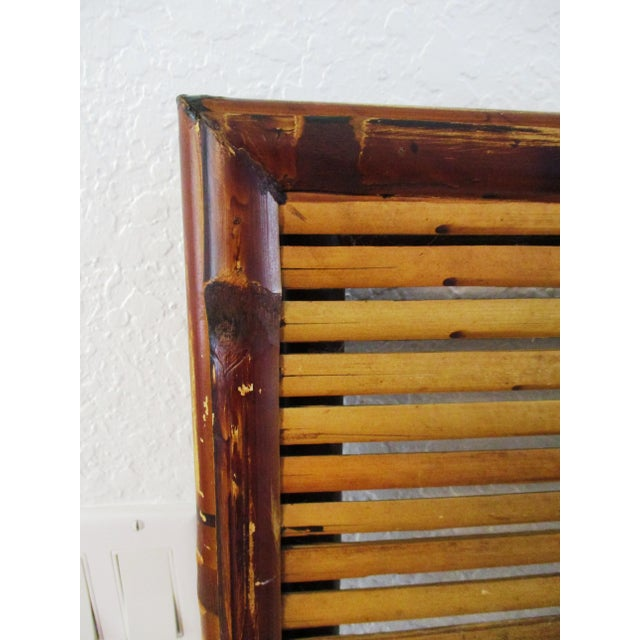 1970s Bamboo Folding Table For Sale In West Palm - Image 6 of 10
