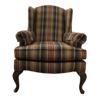 Massoud Tartan Wingback Chair