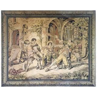 Large Antique Italian Tapestry, Circa 1880. Cesare Auguste Detti For Sale