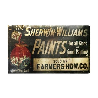 Vintage Sherwin Williams Paints Sign For Sale