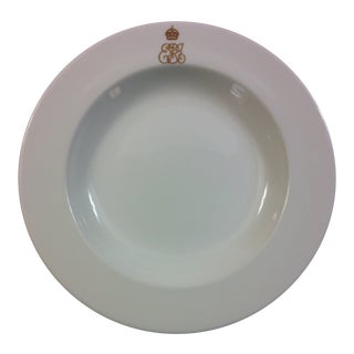 King Edward VII Cauldon Monogram Dinnerware Soup Plate For Sale